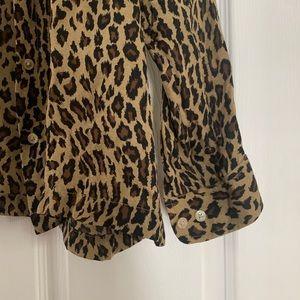 Ralph Lauren Tops - Ralph Lauren silk animal print button down